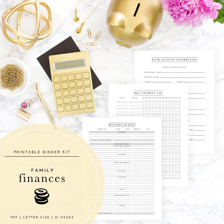 Family Finances Binder Kit A Printable PDF Plus FREE