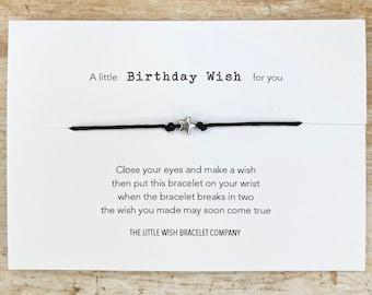 HAPPY BIRTHDAY, Wish Bracelet, A little birthday wish for you, for Him/ Her Friendship best wishes, token gift, custom bracelet option