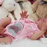 Reborn Babies - Ready NOW - Reborn Baby Girl - LE Journey by LLE - Living Skin Detailing - Premium Micro Rooted Alpaca Hair In Deep Brown