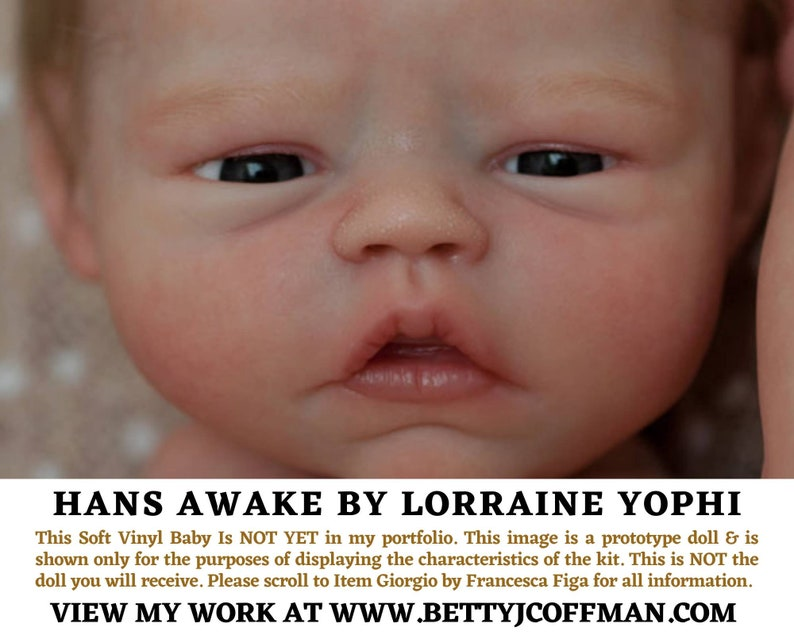 CuStOm FuLL bOdY ViNyL Hans Awake by Lorraine Yophi BOY ONLY image 0