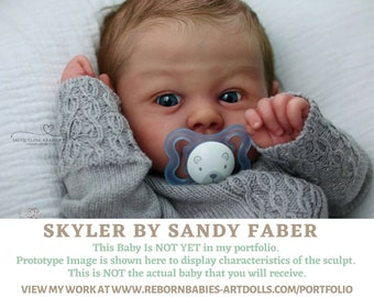 """FREE 2nd BABY w/ purchase of this custom reborn doll  Skyler by Sandy Faber Reborn Doll (20""""+Full Limbs)"""