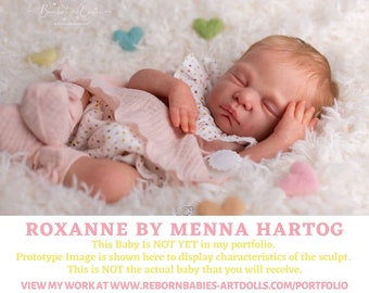"FREE 2nd BABY w/ purchase of this custom reborn doll  Roxanne by Menna Hartog Reborn Doll (18""+Full Limbs)"