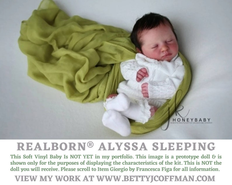 CuStOm Realborn® Alyssa Sleeping 18 Inches  Full Limbs image 0