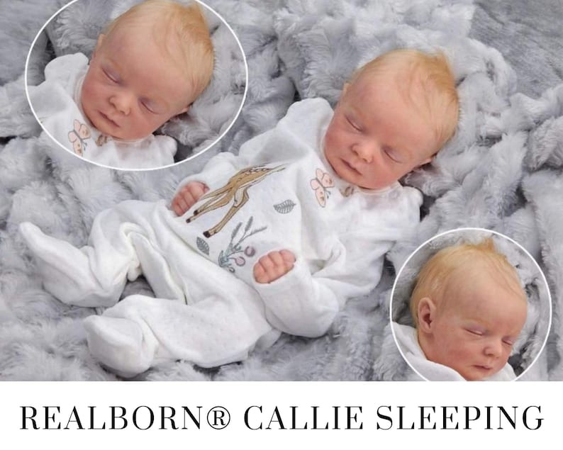 CuStOm Realborn® Callie Sleeping 17 Inches  Full Limbs image 0