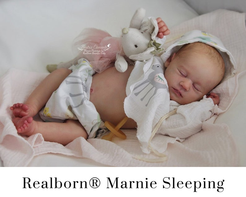 CuStOm Realborn® Marnie Asleep 19 Inches  Full Limbs image 0