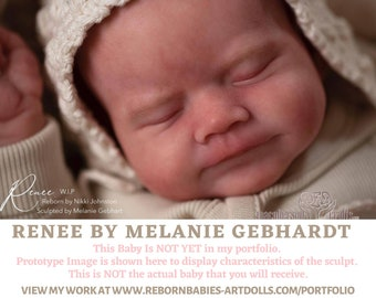 "FREE 2nd BABY w/ purchase of this custom reborn doll  LE500 Renee by Melanie Gebhardt Reborn Doll (19""+Full Limbs)"