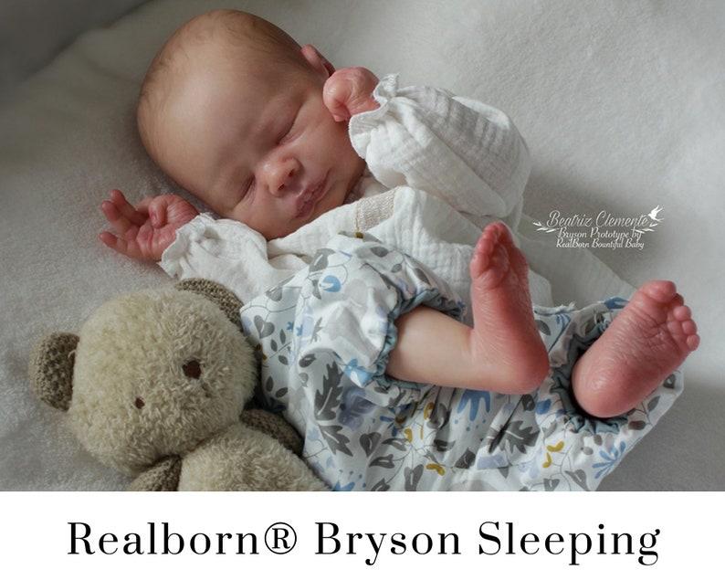 CuStOm Realborn® Bryson Sleeping 18 Inches  Full Limbs image 0