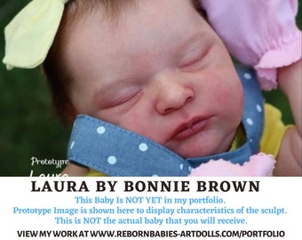 """FREE 2nd BABY w/ purchase of this custom reborn doll  Laura by Bonnie Brown Reborn Doll (20.5""""+Full Limbs)"""