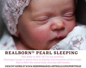 "FREE 2nd BABY w/ purchase of this custom reborn doll  Realborn® Pearl Asleep Reborn Doll (18""+Full Limbs)"