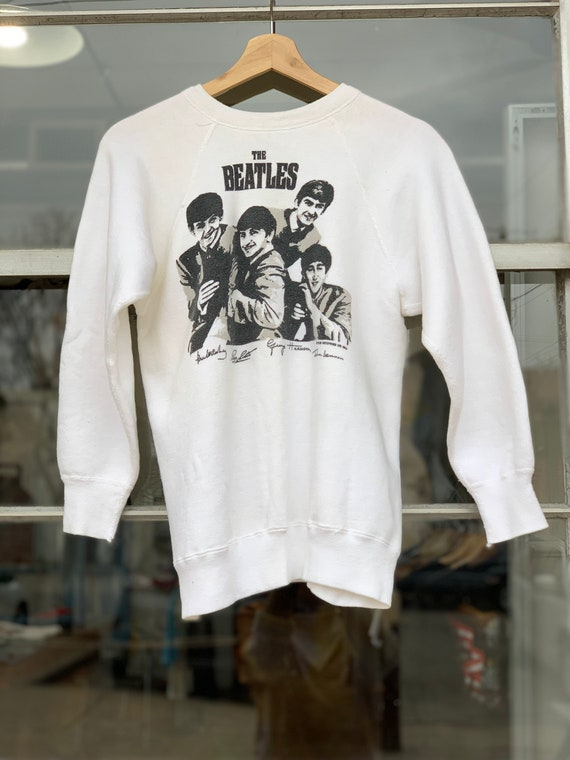 60's Vintage Beatles White Cotton British Invasion