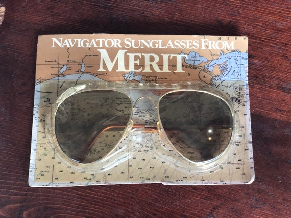 Vintage 80s Aviator Sunglasses - image 1