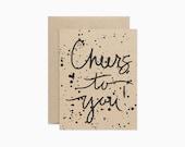 Cheers to you card | Modern congrats | Congratulations card | GCC04