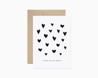 I love you so much card | Modern anniversary card | Anniversary card | Love card | GCL20