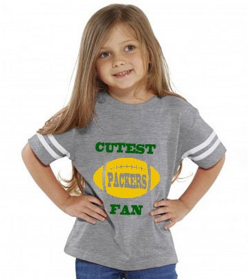 Cutest Packers Fan Toddler Jersey Style T-shirt Makes A Perfect Gift Customize With A Name & Number Unisex Tshirt