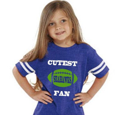 Cutest Seahawks Fan Toddler Jersey Style T-shirt Makes A Perfect Gift Customize With A Name & Number Unisex Tshirt