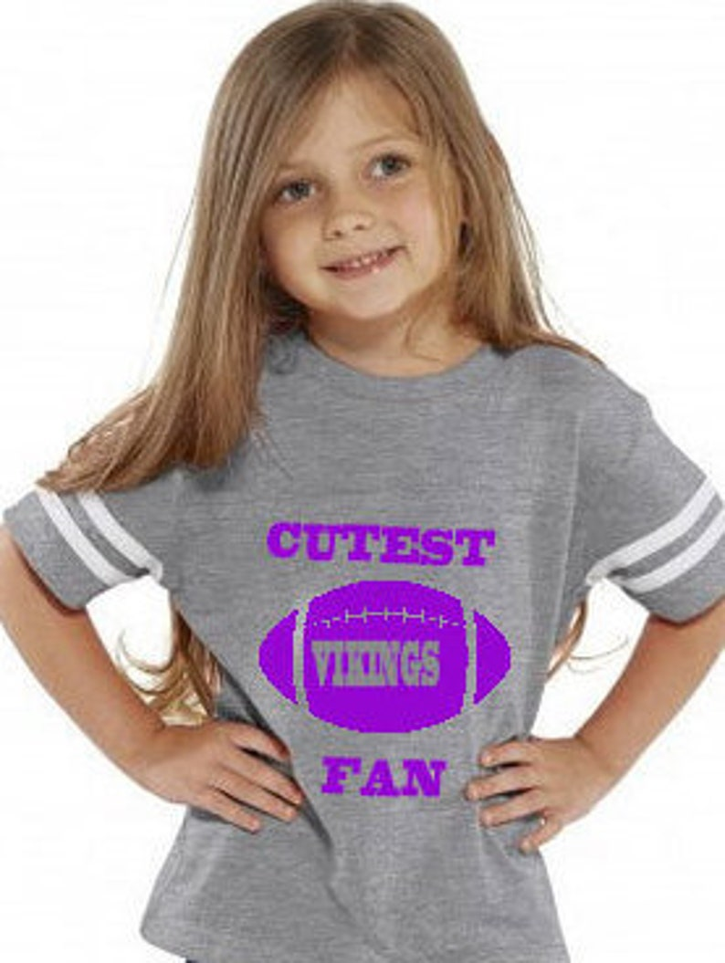 innovative design 132eb 63100 Cutest VIKINGS Fan toddler jersey style t-shirt, makes a perfect gift!  Customize with a name & number!