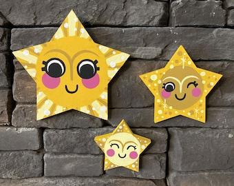 Stars, wood art