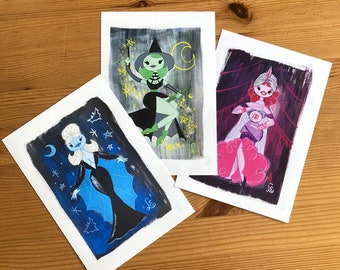 Monsterettes, print set