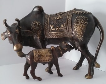 Large Nandi sculpture.