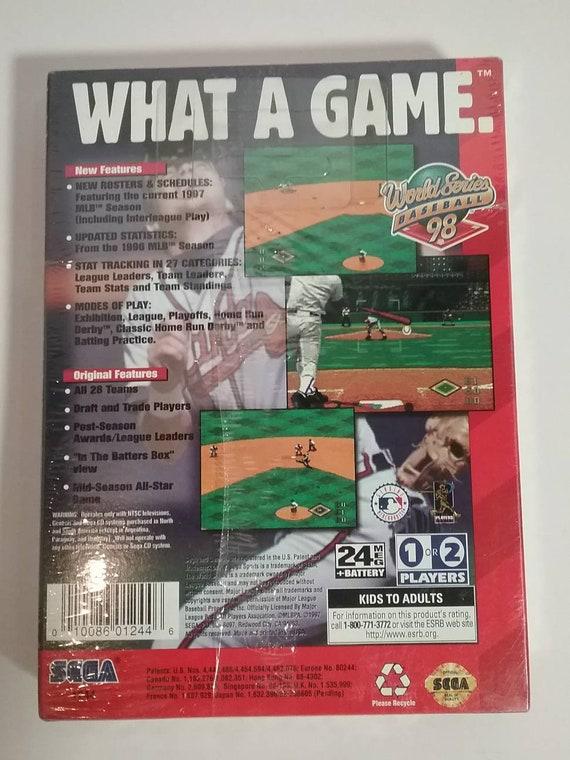 Sega Genesis 1998 World Series Baseball game  Genuine manufactured plastic  cellophane  Unopened mint condition