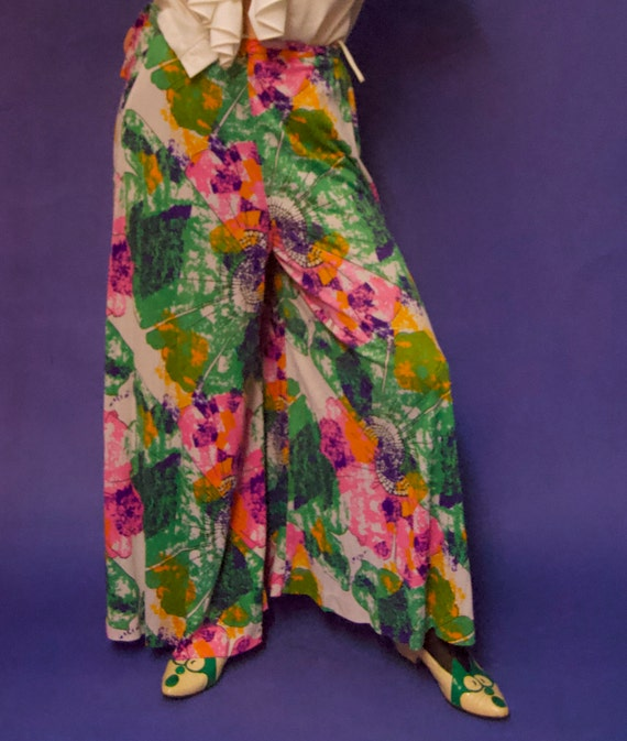 Vintage 1960's/70's PSYCHEDELIC Abstract Floral P… - image 8
