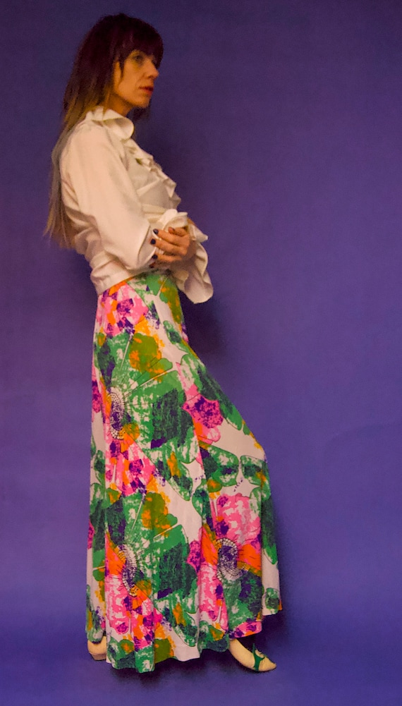 Vintage 1960's/70's PSYCHEDELIC Abstract Floral P… - image 3