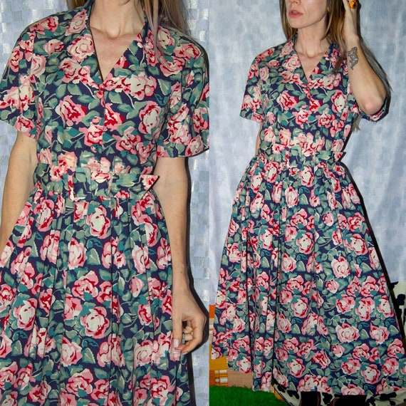 Vintage 1980's Floral LAURA ASHELY Floral ROSES Be