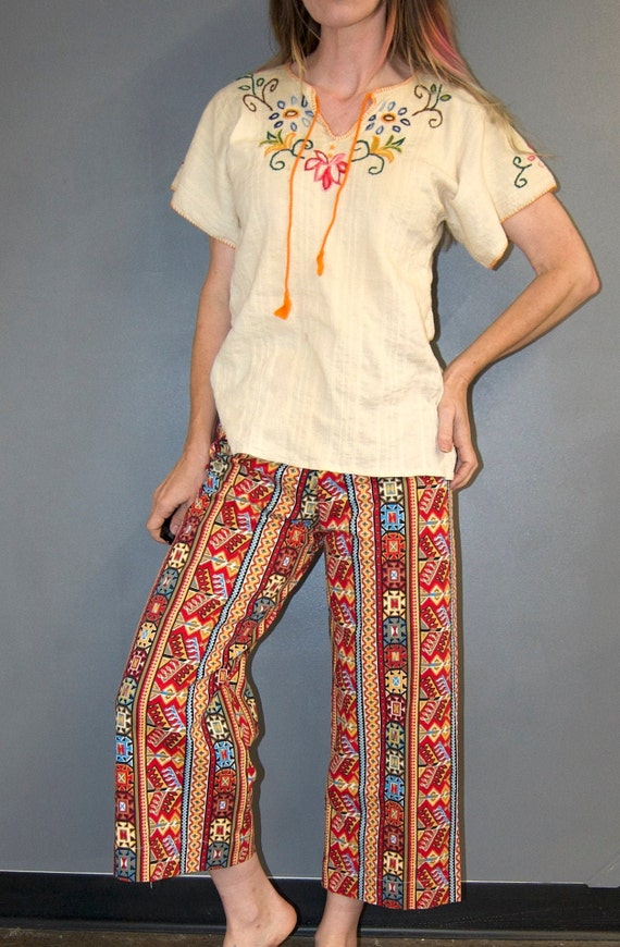 Vintage 1960's HUNGARIAN Style Embroidered Floral… - image 4