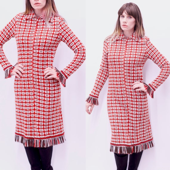 Vintage 1970's Suzy Perette by VICTOR COSTA Fringe