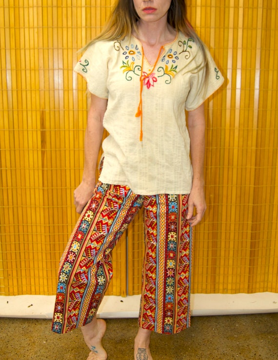 Vintage 1960's HUNGARIAN Style Embroidered Floral… - image 5