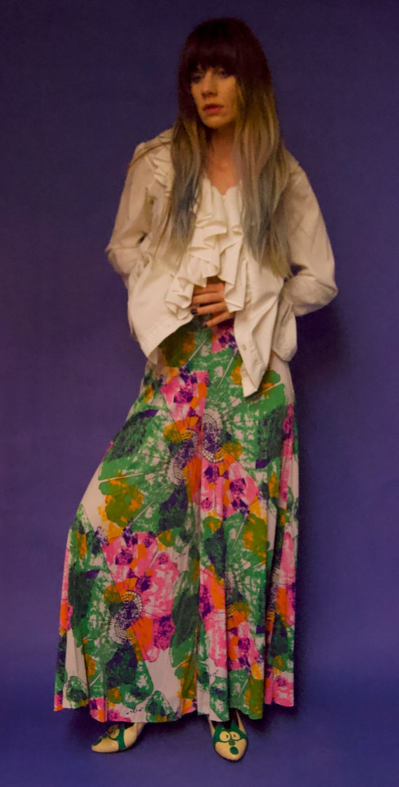Vintage 1960's/70's PSYCHEDELIC Abstract Floral P… - image 7