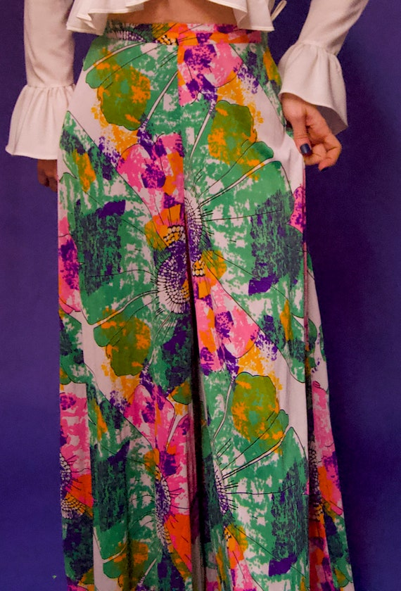 Vintage 1960's/70's PSYCHEDELIC Abstract Floral P… - image 4