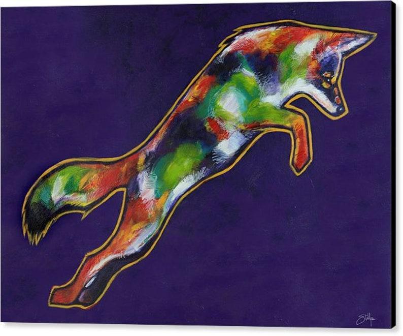 The Jump Canvas Print Acrylic Painting