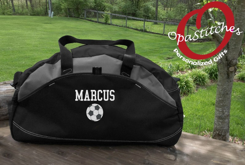 0ee4e9c27c27 Personalized Soccer sports Duffel bag MONOGRAMMED with soccer | Etsy