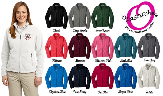 82d6d08c59a Ladies Fleece jacket for Nurses embroidered with a