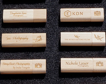 8GB Wedding Photo Personalized Wooden USB Flash Drive Ideal for Photography Business Promotion or Special Occasion Gift Free Artwork Layout