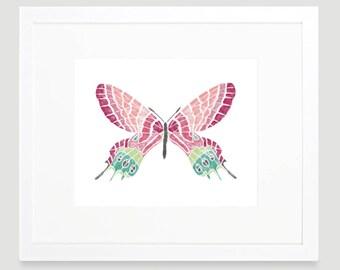 Butterfly Art Print -  Butterfly Wall Art - Nature Art Print - Girl Nursery Decor - Butterfly Nursery Art - Kids Wall Art - Digital Download