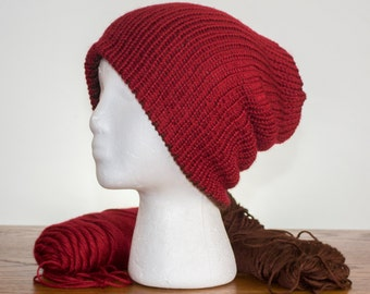 a134c75476b98 Slouchy Beanie - 48 colors available - Reversible Beanie - Red Beanie -  Brown Beanie - Hats for Men - Mens Beanies - Unisex - Snowboard Gear