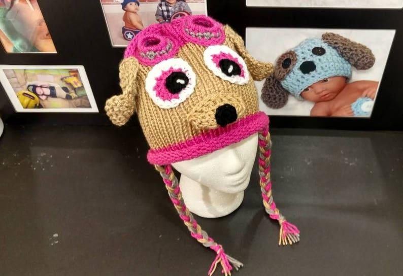 toddler Skye paw patrol Rubble Hat Paw patrol hat crochet hat Skye hat Sky hat, baby child crochet hat