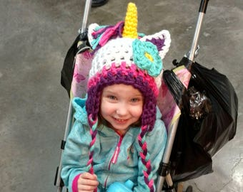 Girls Unicorn Hat My Little Pony Hat Kids Toddler Child Teen Adult Sizes - Same Price!!!