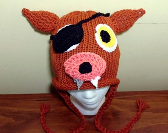 Foxy FNAF Hat, Foxy Five Nights at Freddy's Crochet Hat