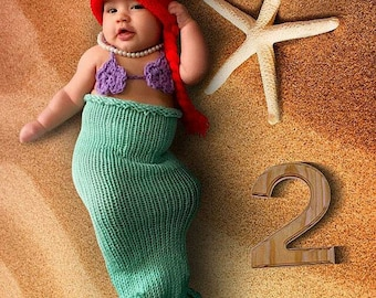 Disney Baby Outfit Little Mermaid Newborn Crochet Mermaid Tail Newborn Crochet Outfit Newborn Mermaid Tail baby girl