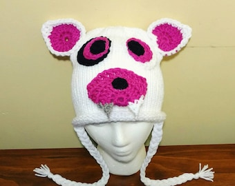 Mangle FNAF Hat, Foxy Five Nights at Freddy's Crochet Hat