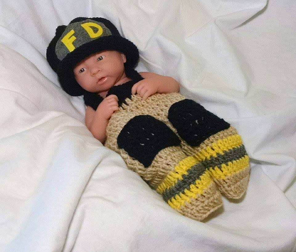 2d6f675ec Firefighter Baby Outfit Crochet Baby Firefighter Outfit Baby Firefighter  Outfit Newborn Firefighter Outfit - Full Set Same Price