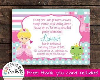 First Birthday Girl Invitation Printable Bird Theme 1st