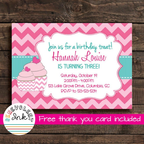 Cupcake first birthday invitation printable birthday party etsy image 0 filmwisefo