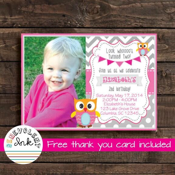 Printable Owl Birthday Invitation Look Whos Turning Two