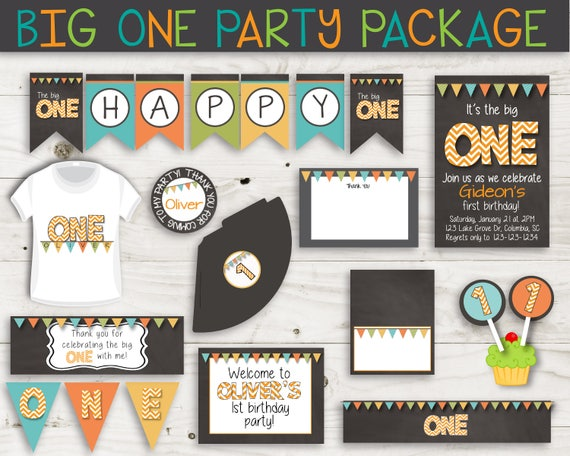 Its The Big ONE First Birthday Party Printables Package