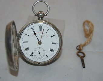 Jewelry & Watches British Art Nouveau Lady's Pocket Watch Stand Enamel Silver 1899 Antique