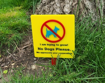 Laser Cutting Files - No Dogs Please Sign - SVG/PDF only